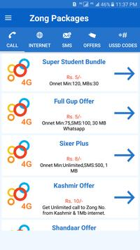 All Zong Packages Free poster