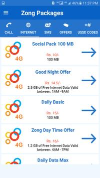 All Zong Packages Free screenshot 1