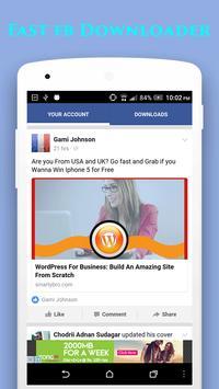 Video Downloader For Facebook apk screenshot