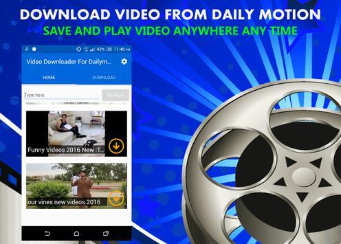 Downloader For Dailymotion apk screenshot