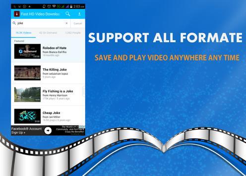 Fast HD Video Downloader apk screenshot