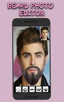 Beard & Mustache Photo Editor for Men poster