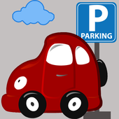 Parking Car Exctied 2D icon