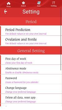 Ovulation Calendar apk screenshot