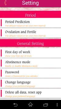 Woman Calendar apk screenshot