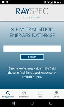 RaySpec X-ray Trans Energies poster