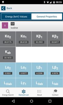RaySpec X-ray Trans Energies apk screenshot