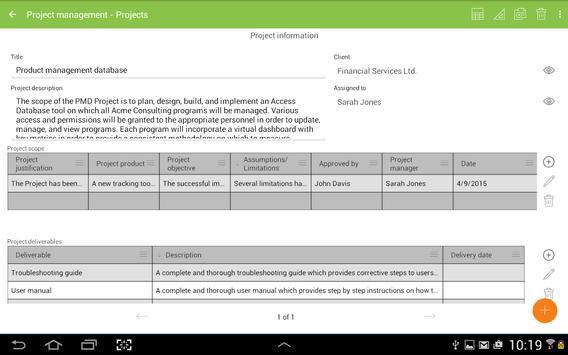 MobiDB Project Management screenshot 8