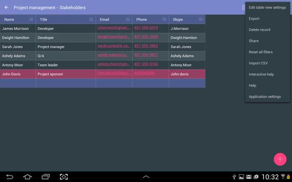 MobiDB Project Management screenshot 12
