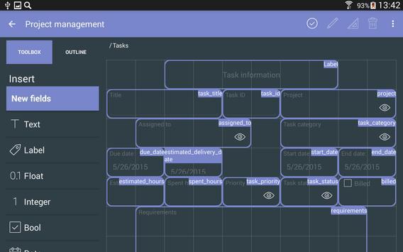 MobiDB Project Management screenshot 17