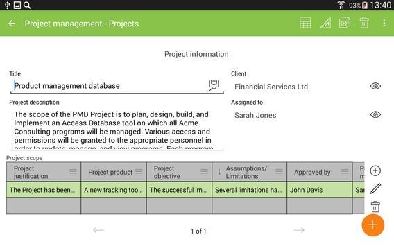 MobiDB Project Management screenshot 15