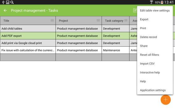 MobiDB Project Management screenshot 16
