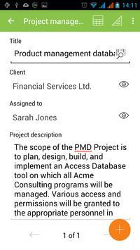 MobiDB Project Management screenshot 1