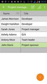 MobiDB Project Management screenshot 2