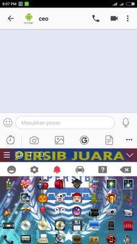 Tema keyboard Persib Bandung screenshot 4