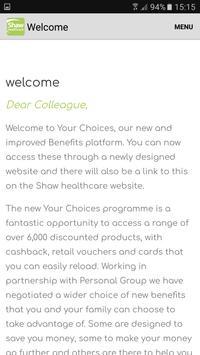 Shaw Healthcare - Your Choices App apk screenshot