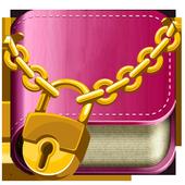 Diary with Emoji lock icon