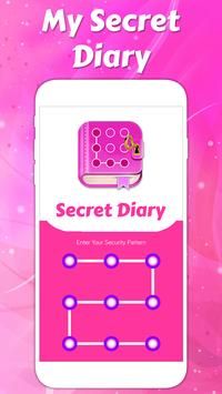 Secret diary with lock poster