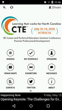 2016 NC CTE Summer Conference poster