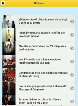 Perú Notícias screenshot 1