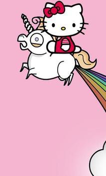 Pink Glisten Unicorn Cat Themes poster