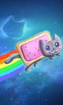 Pink Glisten Unicorn Cat Themes screenshot 1