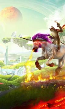 Pink Glisten Unicorn Cat Themes screenshot 2