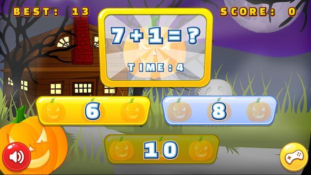 Math Halloween Game apk screenshot