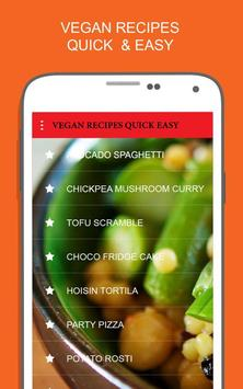 Vegan Recipes Quick and Easy screenshot 2