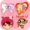 Love Stickers for messenger-icoon