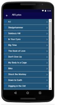 Peter Gabriel  - Song And Lyrics apk screenshot