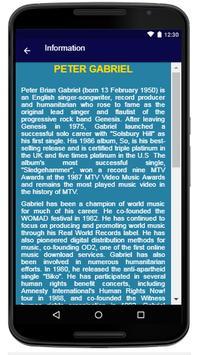 Peter Gabriel  - Song And Lyrics screenshot 5