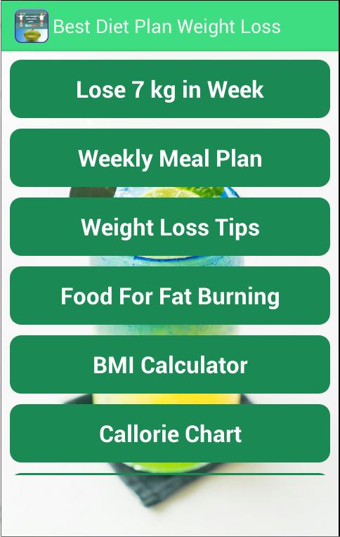 best weight loss plans with food