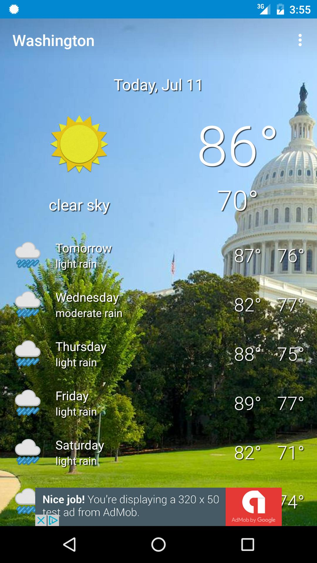 Washington, D C  Weather for Android - APK Download