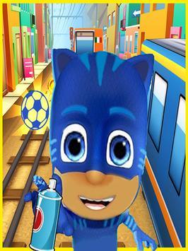 PJ Cat Run-Pet Runner Subway poster