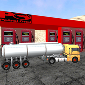 Oil Transport with Tanker - 3D icon