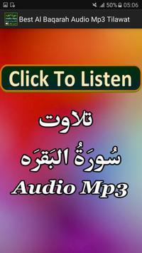 Best Al Baqarah Audio Mp3 App poster
