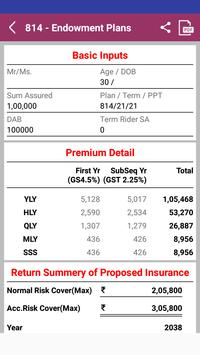 LifeCell Premium Calculator & Plan Presentation apk screenshot