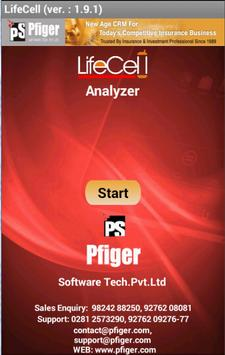 LifeCell Analyzer PFIGER poster
