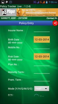 LifeCell Policy Tracker PFIGER apk screenshot