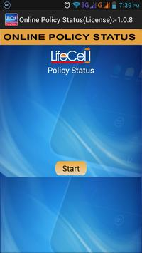 LIC ONLINE POLICY STATUS poster