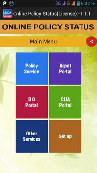 LIC ONLINE POLICY STATUS apk screenshot