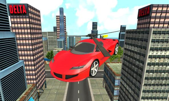 New York Flying Helicopter Car poster