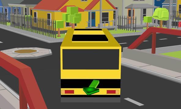 blocky city school bus parker apk screenshot