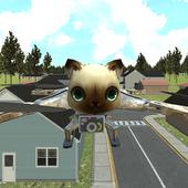 cat drone flight adventure sim icon