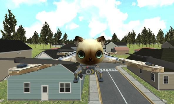 cat drone flight adventure sim poster