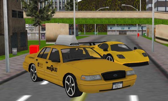 hill climb taxi driver parker poster