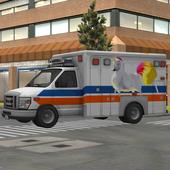 Kids Unicorn Ambulance Parking icon
