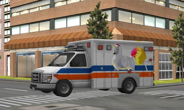 Kids Unicorn Ambulance Parking poster