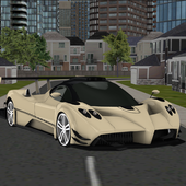 real city racing car parking icon